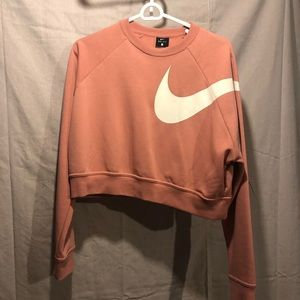 Nike crop top sweatshirt